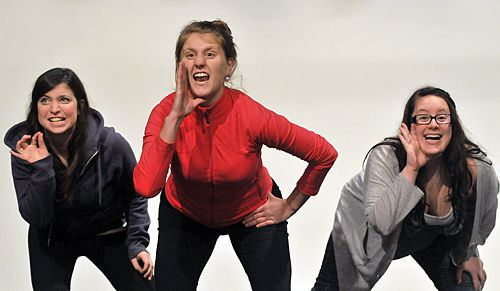 "Actors performing the piece ""Cunt."""