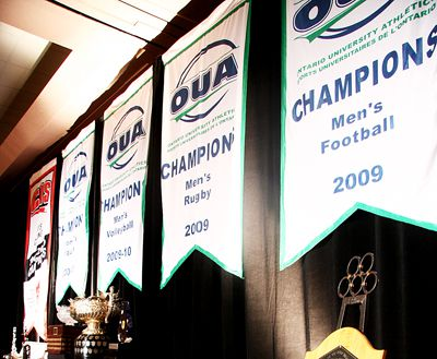 The previous lack of championship banners encouraged an overhaul of Queen's Athletics.