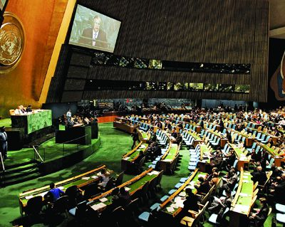 The 2010 May-long Nuclear Non-Proliferation Treaty Review conference is held at the UN Headquarters in New York City. The conference is expected to be attended by many political figures including Hillary Clinton and Iranian President Mahmoud Ahmadinejad.