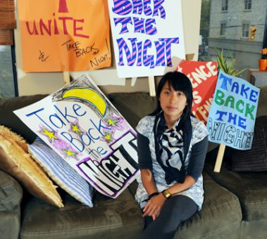 Annie Chau says public education is an important part of preventing violence against women.