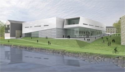 An artist's rendering of Norwegian architectural firm Snohetta's design for the proposed Isabel Bader Centre.