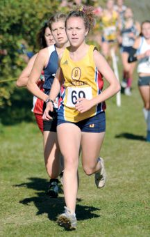 Fourth-year Grace Keenleyside placed seventh with a time of 17:49 at the Queen's Invitational.