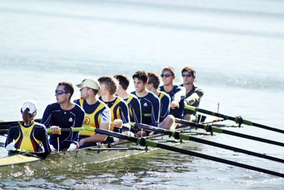 The men's heavyweight eight was pleasently surprised by their results in St. Catharine's.