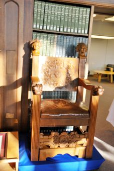 The famed Douglas Chair underwent restoration and will be on display in Douglas Library.