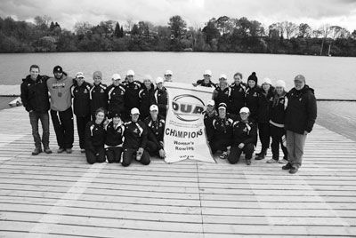 The women's rowing team win the 2010 OUA Championship in St. Catherine's.