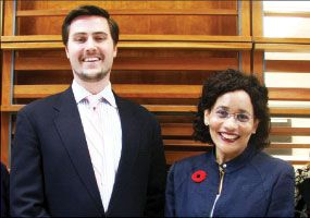 Jeff Dixon and Yolande Chan of the Queen's Monieson Centre.