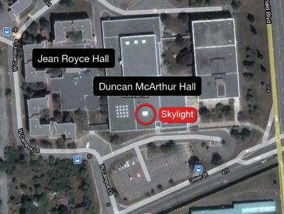 Two students fell through a skylight in the Education Library, located in Duncan McArthur Hall at Union St. and Sir John A. MacDonald Blvd.