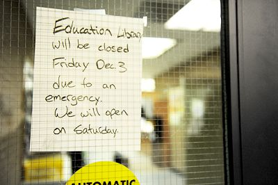The Education Library was closed Friday Dec. 3 after the incident.