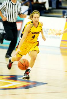Guard Liz Boag is one of the many rookies helping the Gaels this season through injuries and team development.