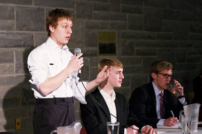 Undergraduate student trustee candidate Stephen Pariser said that the trustee is a position of influence rather than authority.