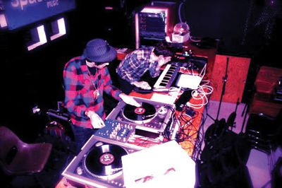DJ Twigg (Chris Bull, left) and DJ Stone (Chester Hansen, right) use soft, scaling piano seamed with a mix of classical and new-wave blues backed by snappy percussion.