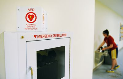 Defibrillators increase a person's chance of survival significantly after they suffer cardiac arrest.