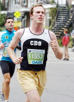 Robert Nason, ArtSci ' 12, ran competitively in high school and was a cyclist.