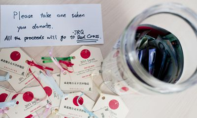 The Red Cross is one organization raising money for relief efforts following the earthquake and tsunami in Japan.