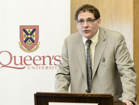 Principal Daniel Woolf announces plans to review how the University deals with alcohol-related issues at a press conference on Tuesday.