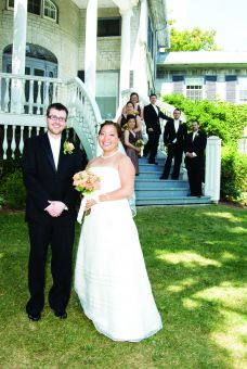 Jesse and Margaret Fumerston outside Summerhill on their wedding day in 2007.