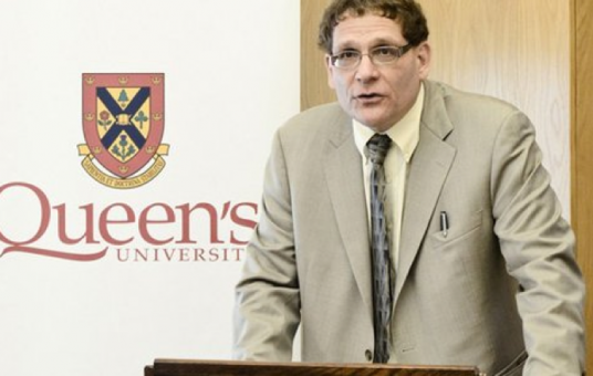 Principal Daniel Woolf announces plans to review the University's approach to alcohol-related incidents at a May 31 press conference.