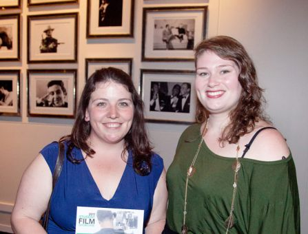 Gillian Good (left) and Margaret Donahoe at the TIFF Student Showcase.