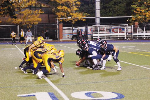 The football team overcame injuries, rain and a poor performance to win 13-6 against the University of Toronto Varsity Blues in Toronto on Friday night.