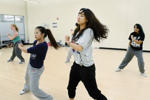 Dancers in Flow Dance session use hip hop and freestyle in their technique. Flow Dance practices take place in ARC studios throughout the school year.