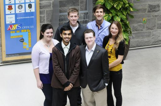 Six rector candidates are currently campaigning. Front row: Laura Stairs (left), Asad Chishti, David Myers and Robyn Laing. Back row: Mike Cannon (left) and Nick Francis. Elections occur on Oct. 25 and 26.