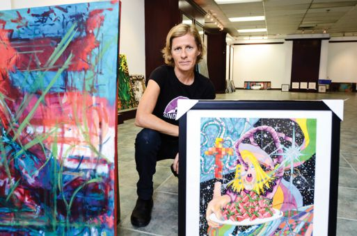 Maggie Hogan has been working with Art on the Street for the last six years. The festival promotes artwork from people with addiction and mental health issues.