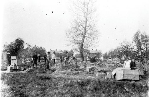 Exhumation of the cemetery in McBurney Park was abandoned in 1893 after the community learned that the buried bodies weren't fully decomposed.