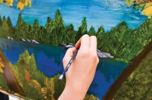 Local art therapist Sister Kay Morrell often has clients use a landscape setting to illustrate how they see themselves. According to Morrell, artistic talent is unnecessary for art therapy.