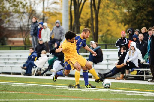 First-year striker Peter Christidis scored the team's only goal against Laurentian on Wednesday.