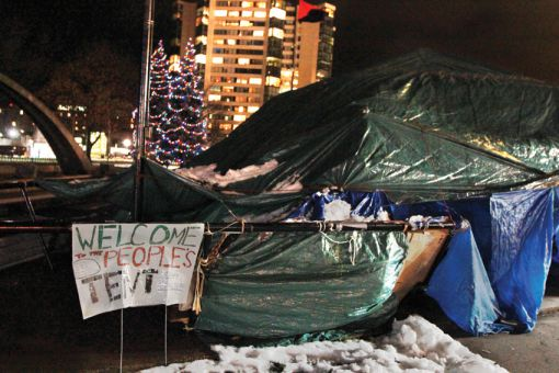 A motion to be discussed at Kingston city council on Dec. 6 proposes the eviction of occupiers in Confederation Park.