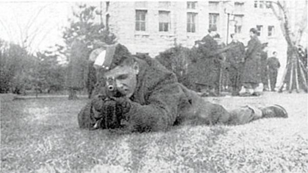 During the Second World War, military training would grant students an academic credit at Queen's.