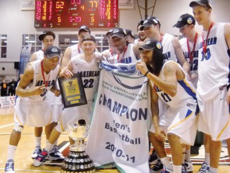 Lakehead's men's basketball team won the OUA Championship last season.