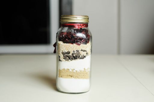 The holiday cookie in a jar recipe is visually appealing and easy to make.