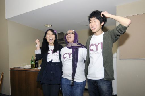 Dorothy Yu (left), Tuba Chishti and John Liu make up team CYL. They ran uncontested in MCRC executive elections.