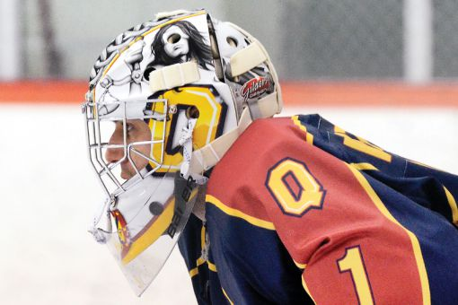 The Gaels are 5-2-1 since goaltender Riley Whitlock redecorated his helmet over the holidays.