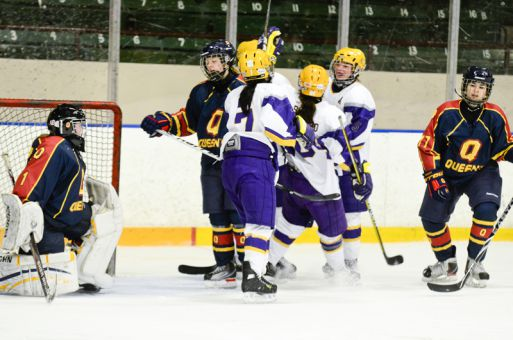 Goaltender Karissa Savage was pulled after allowing five goals against the Wilfrid Laurier Golden Hawks on Friday.