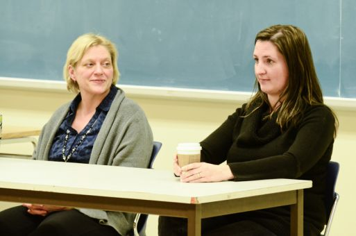 Law professor Lynne Hanson (left) says the suspension of the Fine Arts program is one example of gender discrimination on campus.
