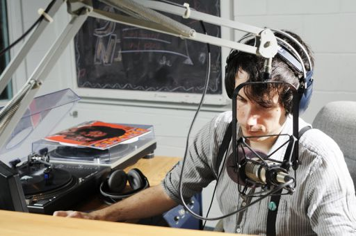 CFRC staff member Cameron Willis says he used to listen to the radio program Indie Music Wake Up Call before being hired to host the show's Thursday morning slot.