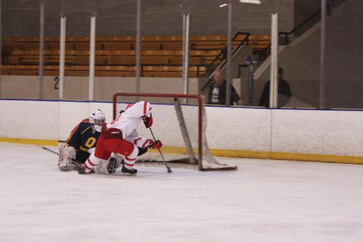 York Lions forward Katrina Tollis scores the game-winning goal on a penalty shot in the third period of game one on Wednesday.