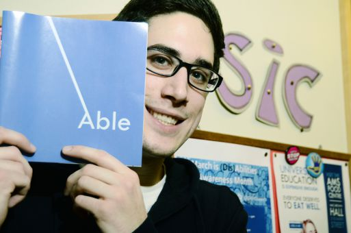 Justin Barath, ArtSci '11, is the co-creator of Able, a campus publication that focuses on disability issues.