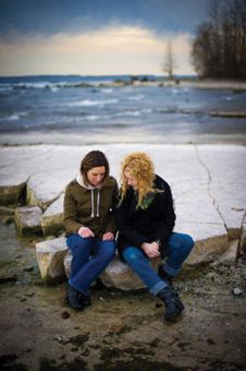 Kris and Dee explore the shores of Lake Ontario. The scenery in Kingston is one of the main reasons the couple decided to move here.