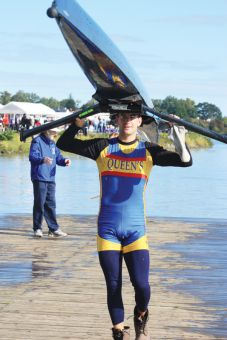 Morgan Jarvis rowed at Queen's for nine years and is currently in contention for a spot at the London Olympics.