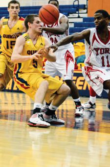 The York Lions beat the men's basketball team 66-62 at the ARC on Jan. 14. The Gaels trail the Lions by two points in the OUA East.