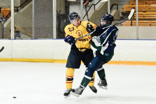 After Thursday 3-2 night's loss to the Ryerson Rams, defenceman Brendan Bureau and the Gaels need to beat the Nipissing Lakers on Saturday to earn a playoff berth.