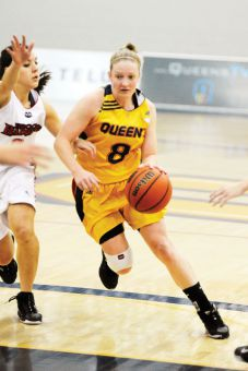 Women's basketball guard Brittany Moore is the second-highest all-time scorer in the OUA.