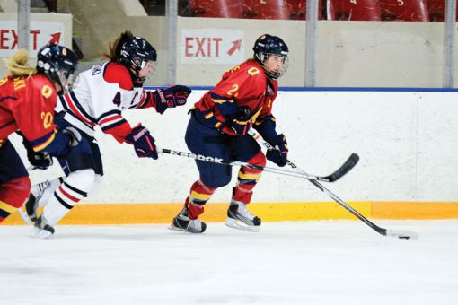 Women's hockey forward Morgan McHaffie was the OUA's top scorer with 16 goals and 22 assists this season.