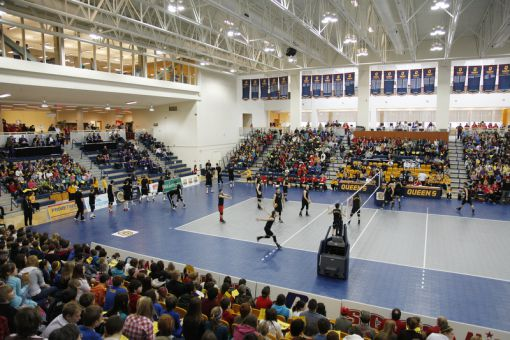 KINGSTON, Ont. (02/03/2012) - The crowd before the 2012 CIS Men's Volleyball Championship - Laval Rouge et Or Devs. Calgary Dino's.