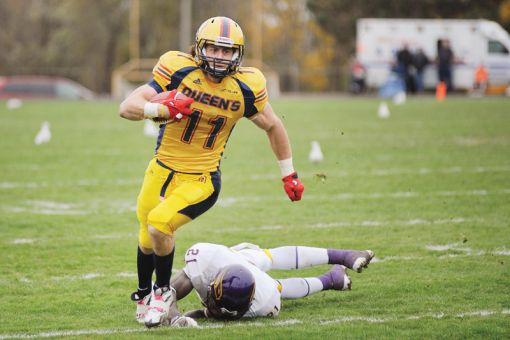 Queen's receiver Giovanni Aprile was ranked 14th by the Canadian Football League Scouting Bureau.