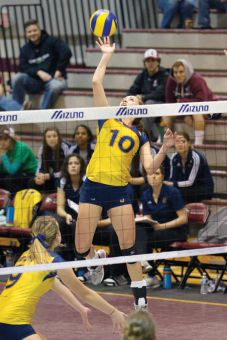 Outside hitter Becky Billings was the Gaels' MVP against the University of British Columbia Thunderbirds in Hamilton on March 2.