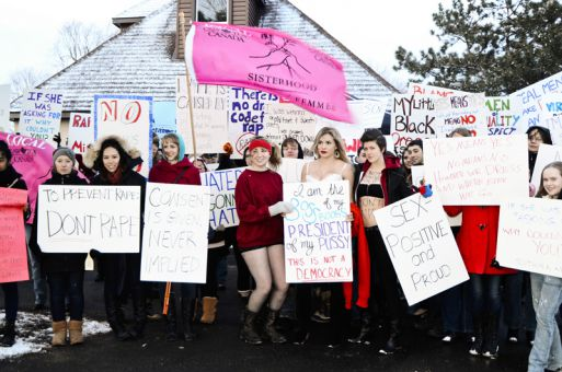 Over 100 protesters marched from City Park last Friday in Kingston's first SlutWalk event.